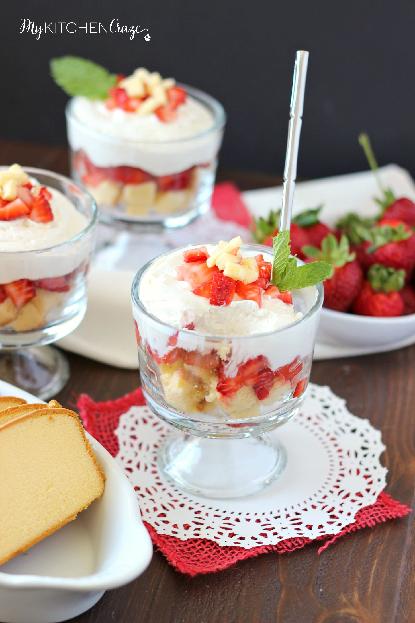 No Bake Strawberry Cheesecake Trifle ~ mykitchencraze.com