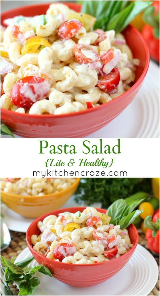 Pasta Salad {Lite & Healthy} ~ mykitchencraze.com