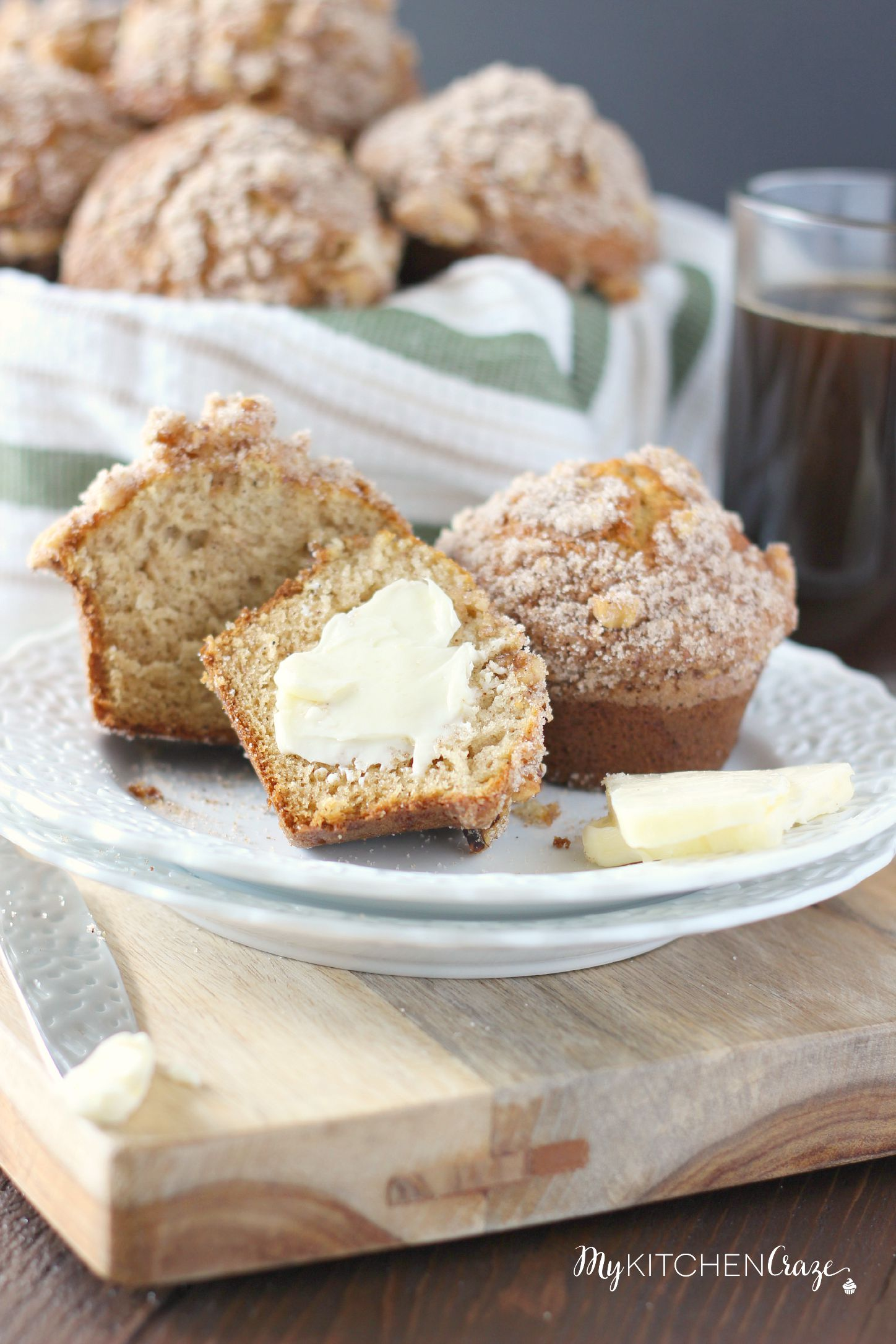 Buttermilk Spice Muffins (Mimi's Cafe Copycat) ~ mykitchencraze.com ~ These muffins are perfect for breakfast! Serve warm and with some butter. You'll be in heaven!
