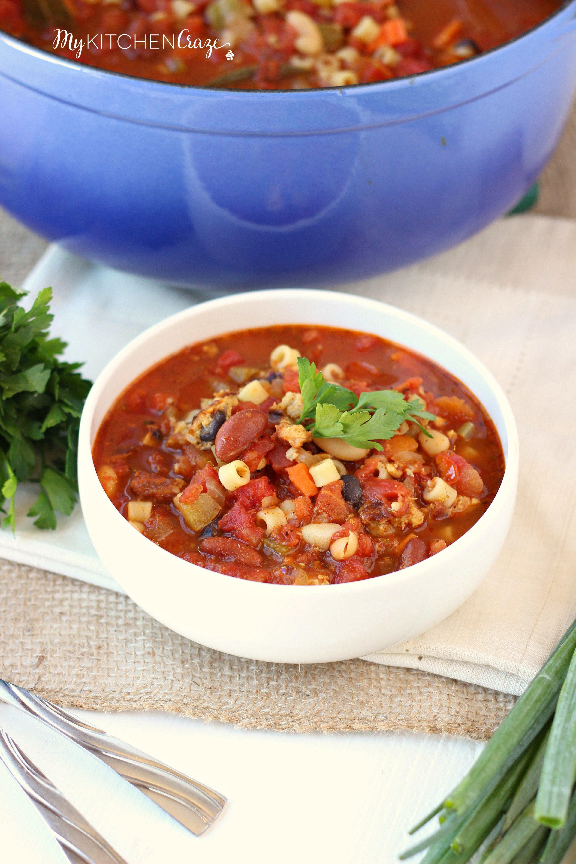 Pasta E Fagioli ~ mykitchencraze ~ Delicious hearty soup for those cold chilly nights!
