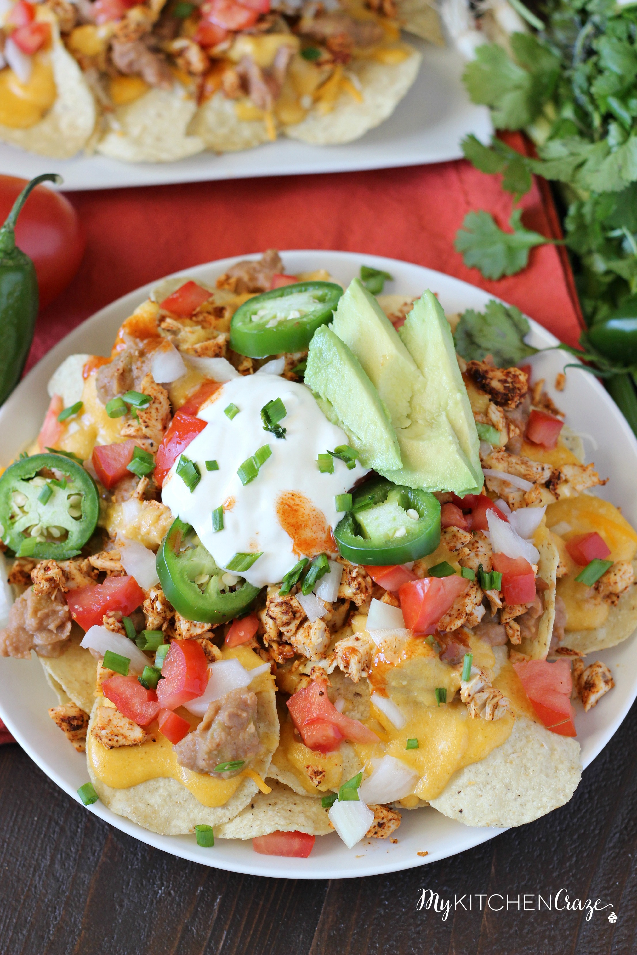 Spicy Turkey Nachos ~ mykitchencraze.com ~ Perfect way to use up the leftover turkey from Thanksgiving. Plus they're delicious and a breeze to whip up!