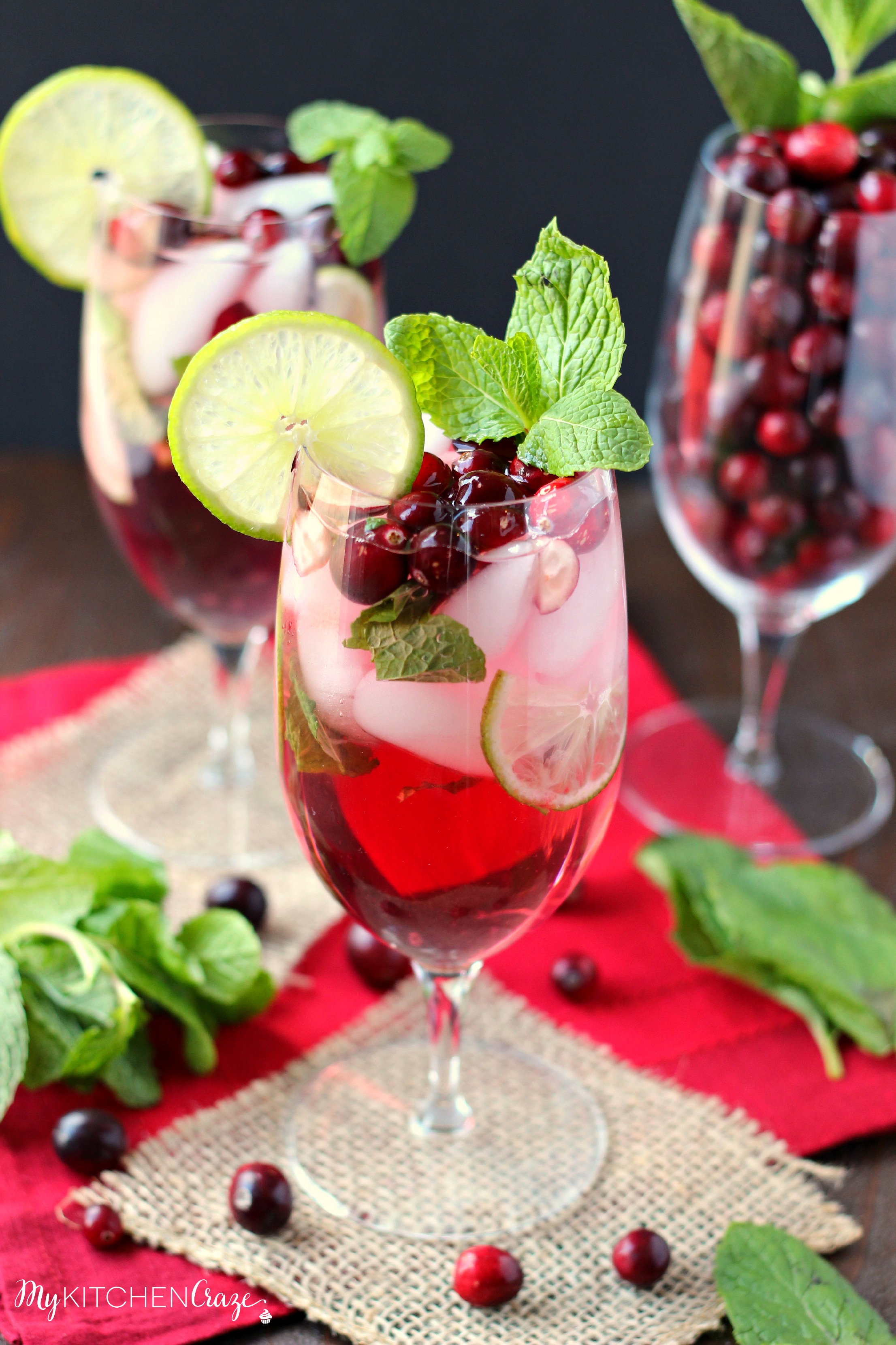 Cranberry Mojito ~ mykitchencraze.com ~ A refreshing and delicious drink for your holiday parties!