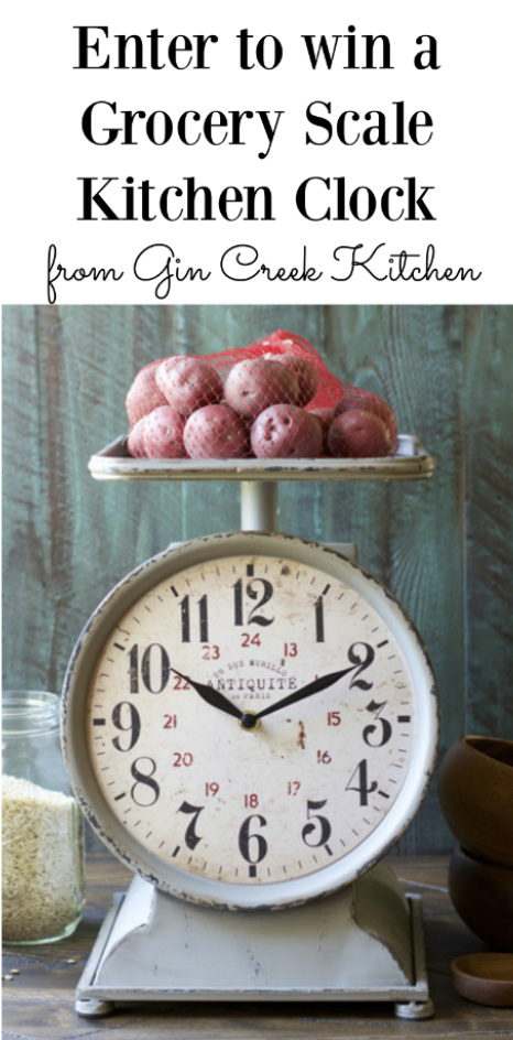 grocery-scale-clock-giveawayGrocery Scale Giveaway on Gin Creek Kitchen