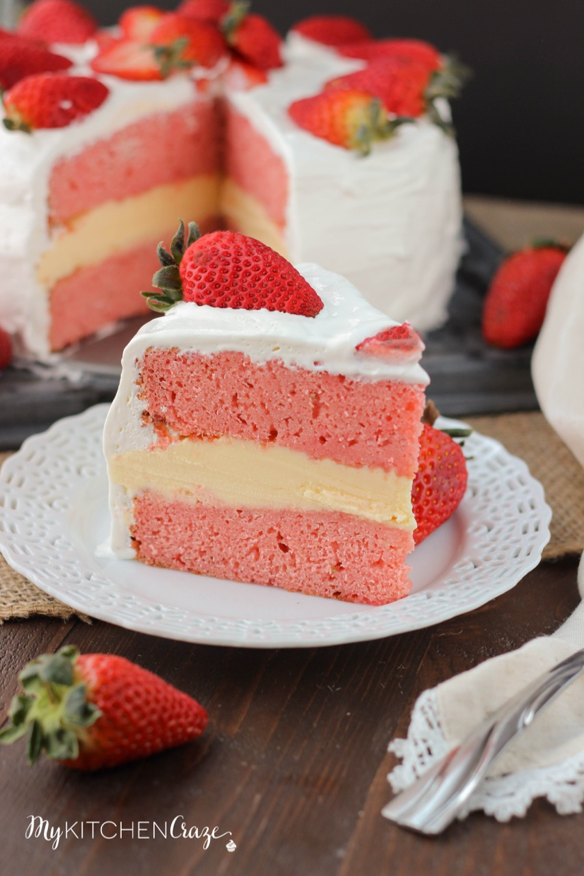 Chocolate Cake With Strawberry Cream Frosting