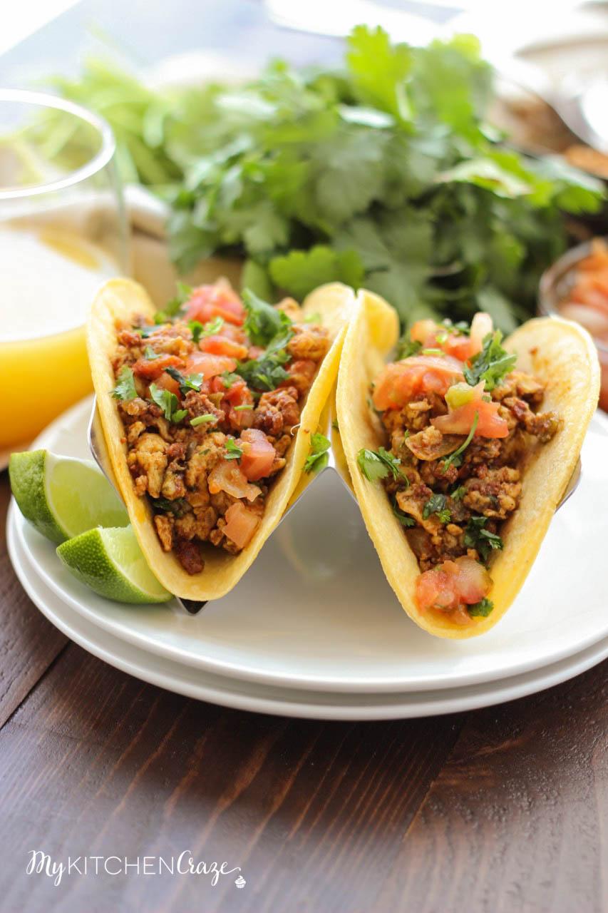 Chorizo Breakfast Tacos ~ mykitchencraze.com