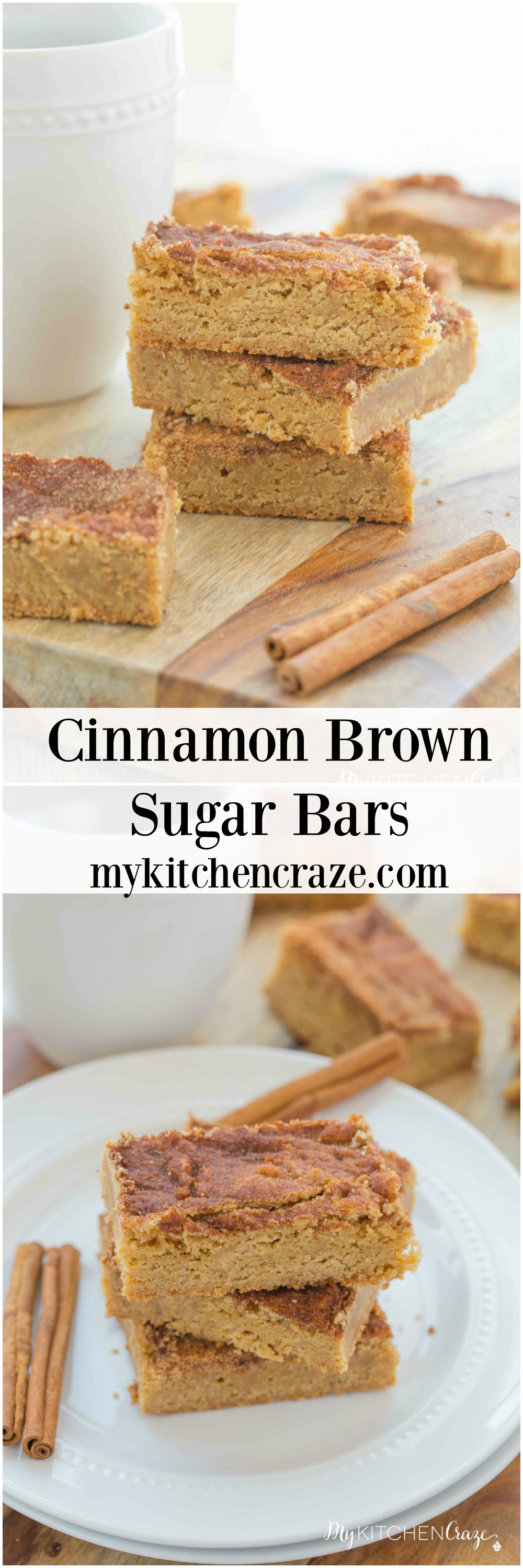 Cinnamon Brown Sugar Bars ~ mykitchencraze.com ~ Cinnamon Brown Sugar Bars are a moist delicious bar, topped with a cinnamon sugar topping. Add a dollop of vanilla ice cream or make a cup of coffee and you'll be in heaven!