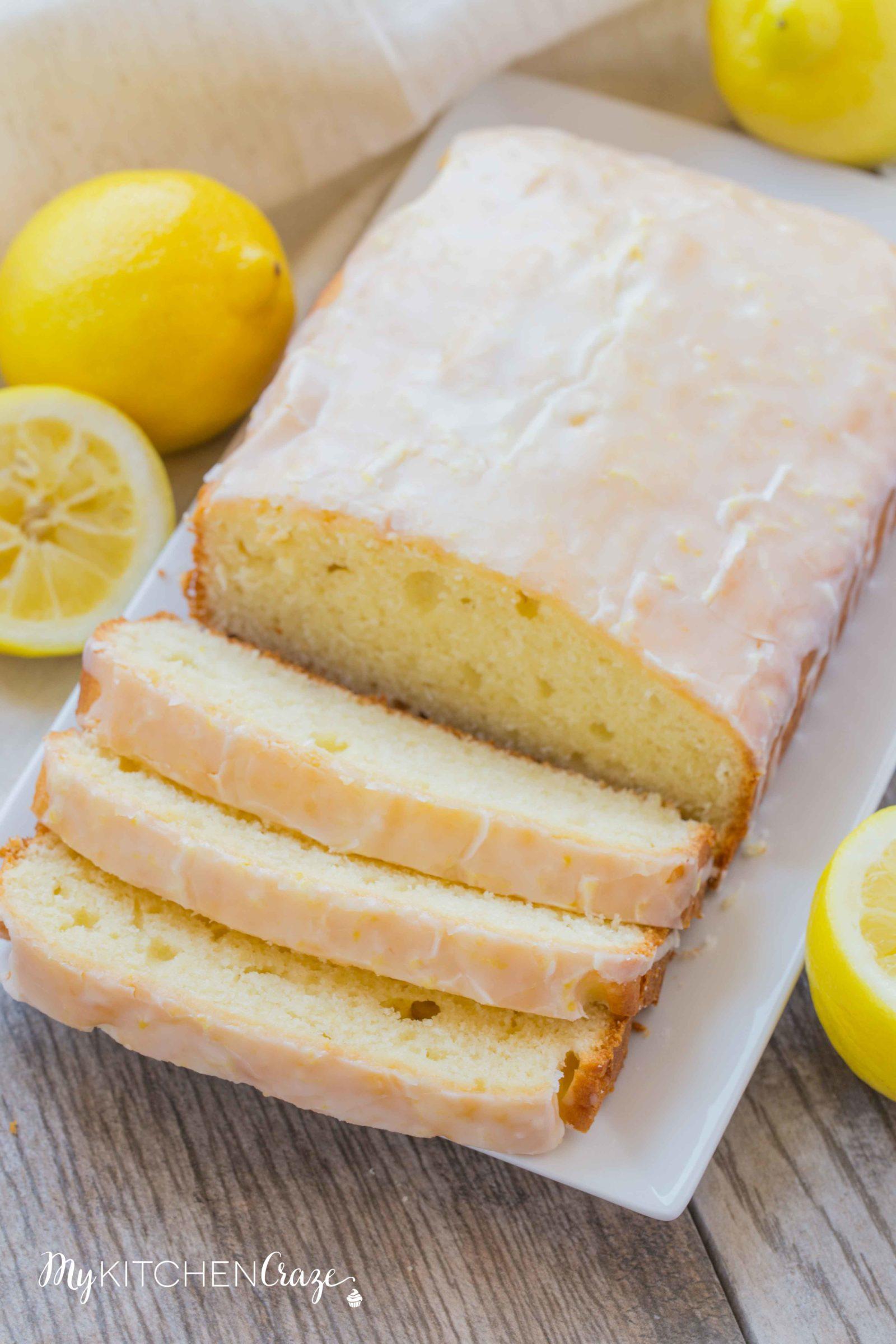 Lemon Yogurt Loaf Cake ~ mykitchencraze.com ~ Lemon yogurt cake is the perfect dessert for the whole family. It's moist and the lemon flavor is delicious.