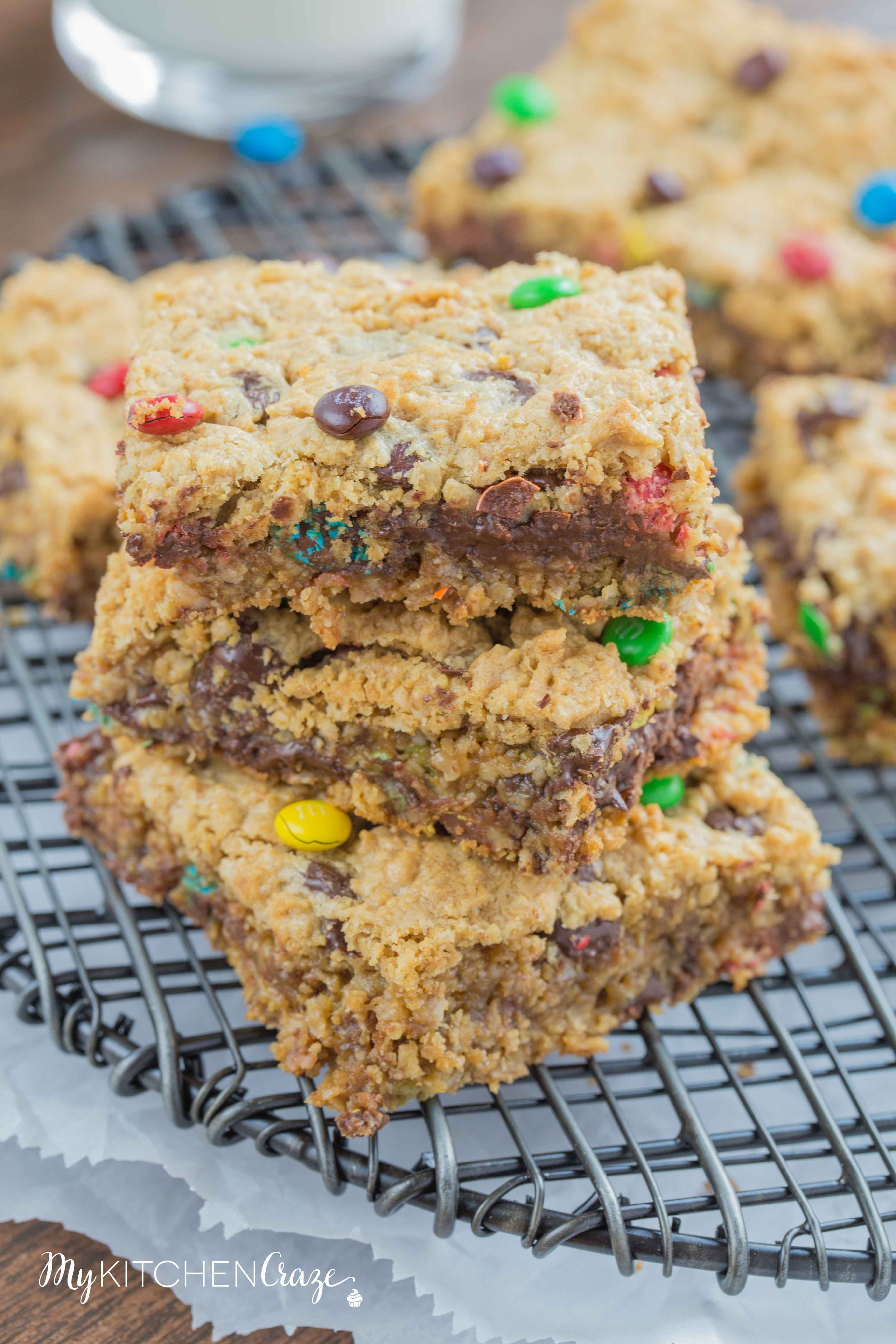 Monster Cookie Bars ~ mykitchencraze.com