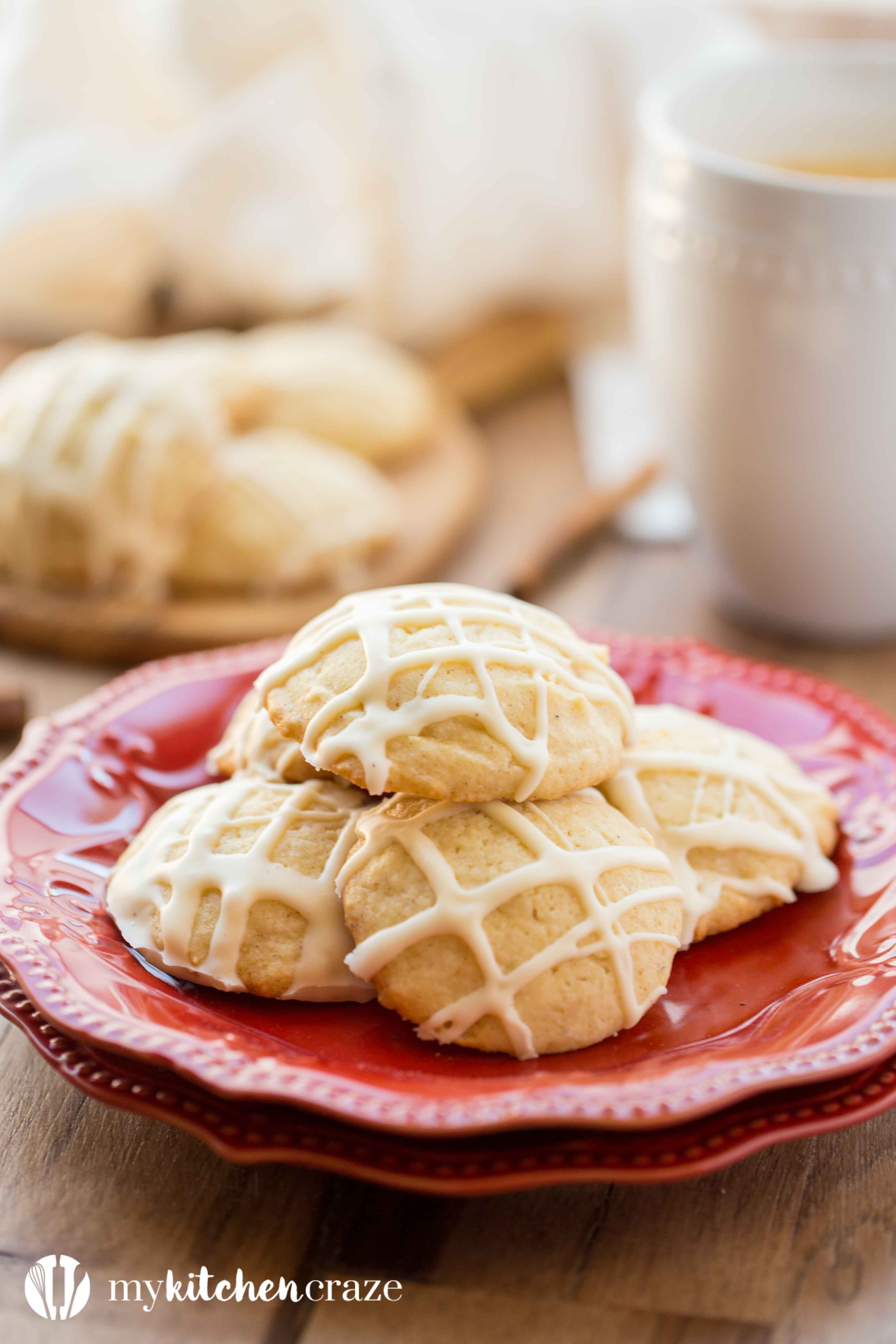 Eggnog Cookies are the perfect treat for your holiday party or cookie exchange. They're soft with crunchy edges and have a delicious eggnog glaze to top them off! You need to make them asap!