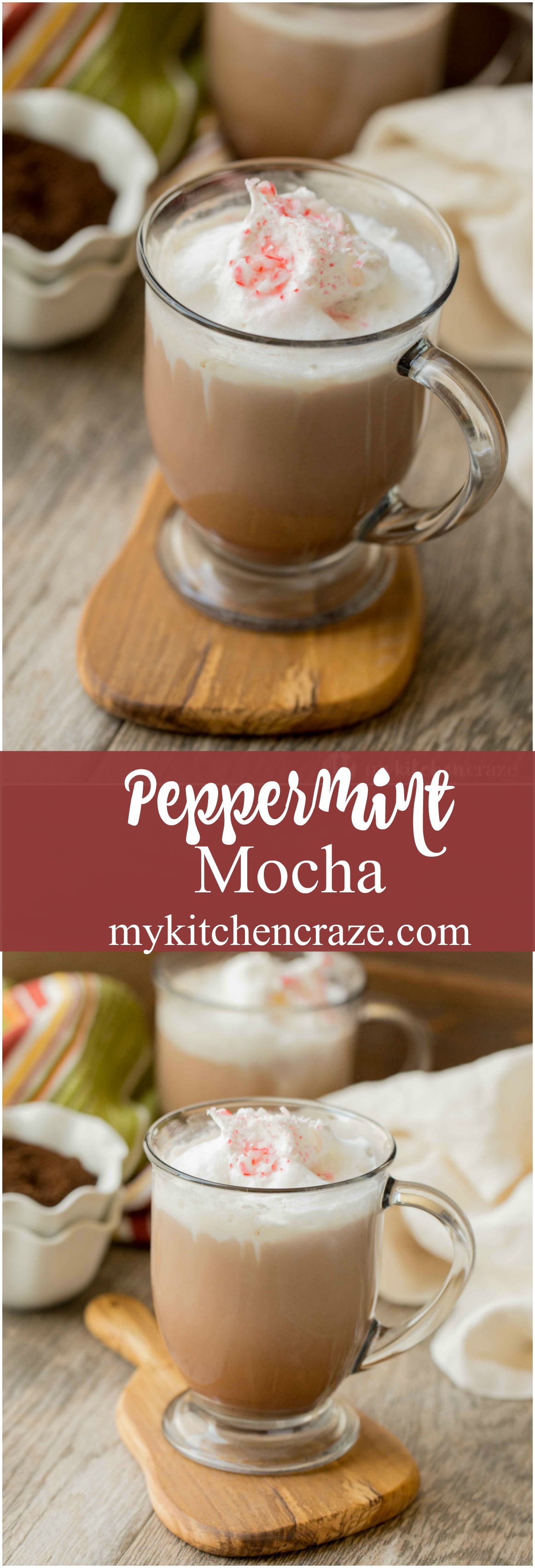 Peppermint Mocha is perfect for those chilly nights. Only a handful of ingredients and you can enjoy this delicious drink in the comfort of your own home!