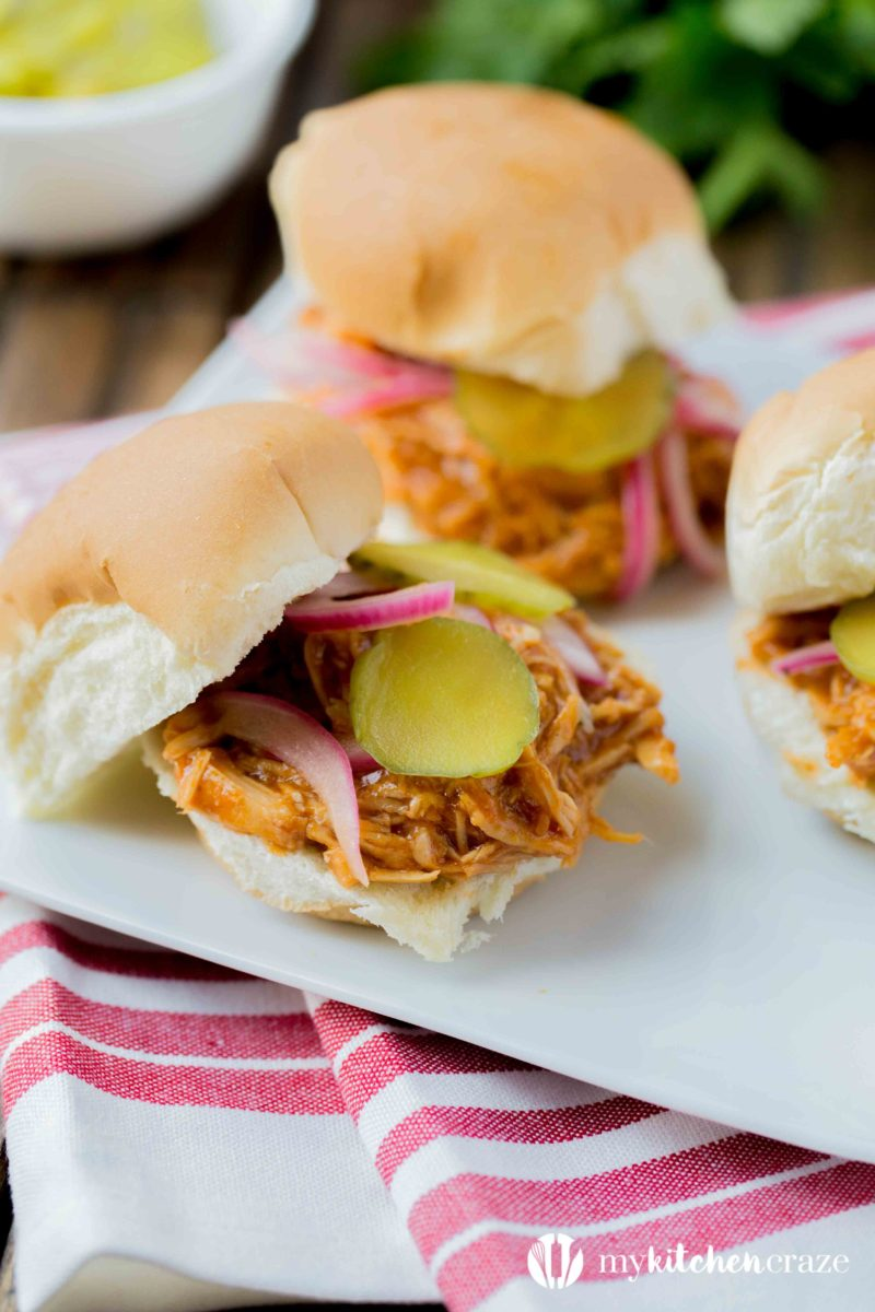 Bbq Pulled Chicken Sliders A Recipe Video My Kitchen Craze