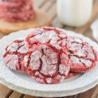 Crunchy around the edges and soft in the center, these Red Velvet Crinkle Cookies can be a great treat for Valentine's Day. You won't believe how easy and good these are!