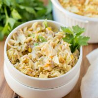 This easy, delicious Tuna Casserole can be on your table within 30 minutes. Perfect for those busy nights you don't want to be in the kitchen.