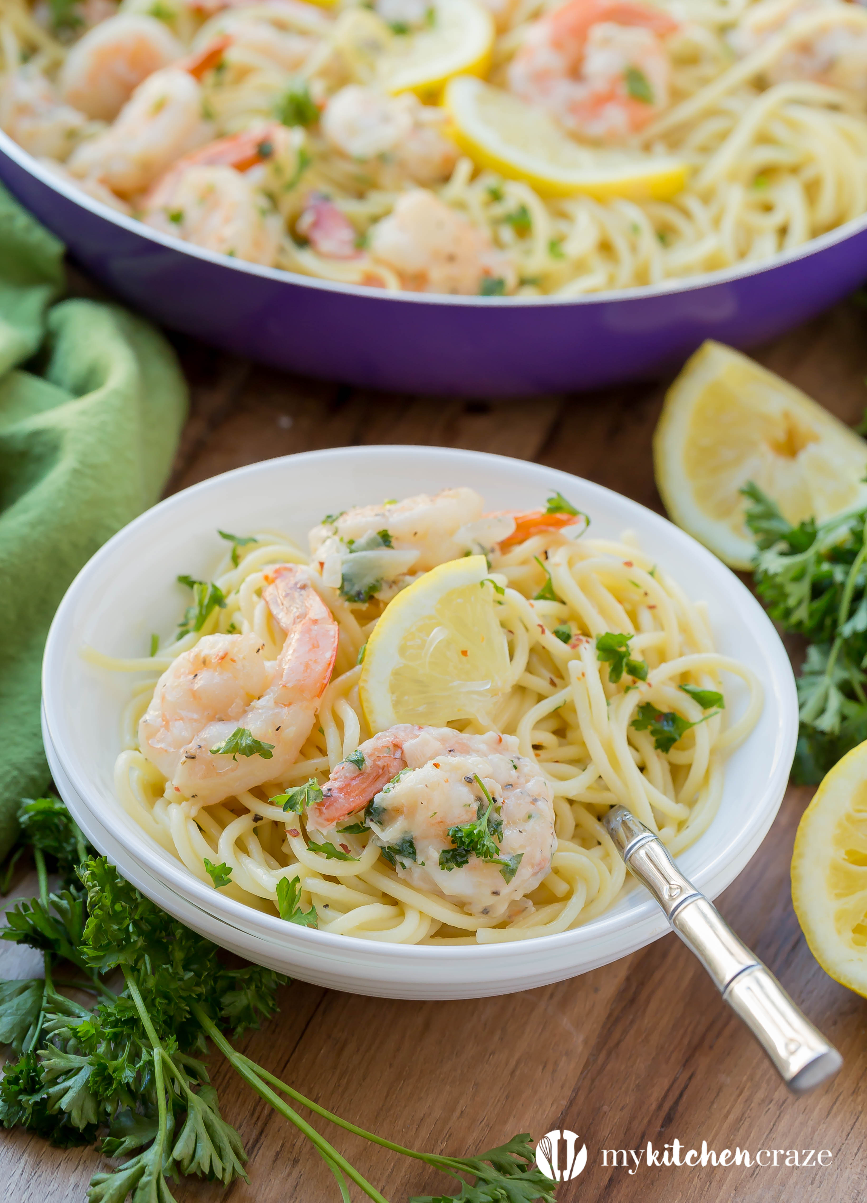 30 minute shrimp scampi a recipe video my kitchen craze 30 minute shrimp scampi is fast becoming a favorite in our house with only 10 forumfinder Images