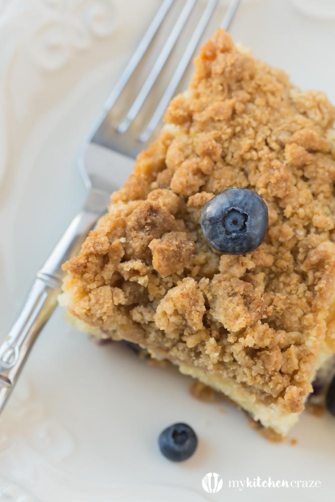 Blueberry Crumble Cake is such a moist, crumbly and a delicious cake! You'll fall head over heels for this delicious cake!
