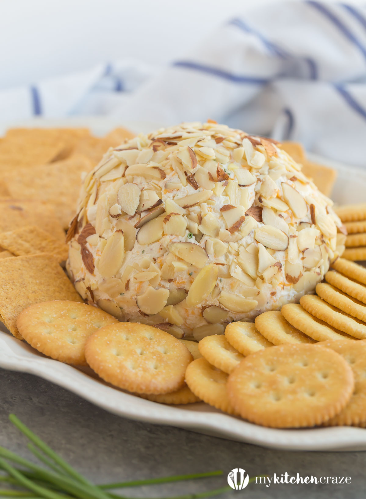 Easy Cheese Ball ~ Need a quick appetizer for a upcoming party or a special event? Then you need to make this Easy Cheese Ball. Perfect with crackers and meats. This appetizer will be the hit of the party!