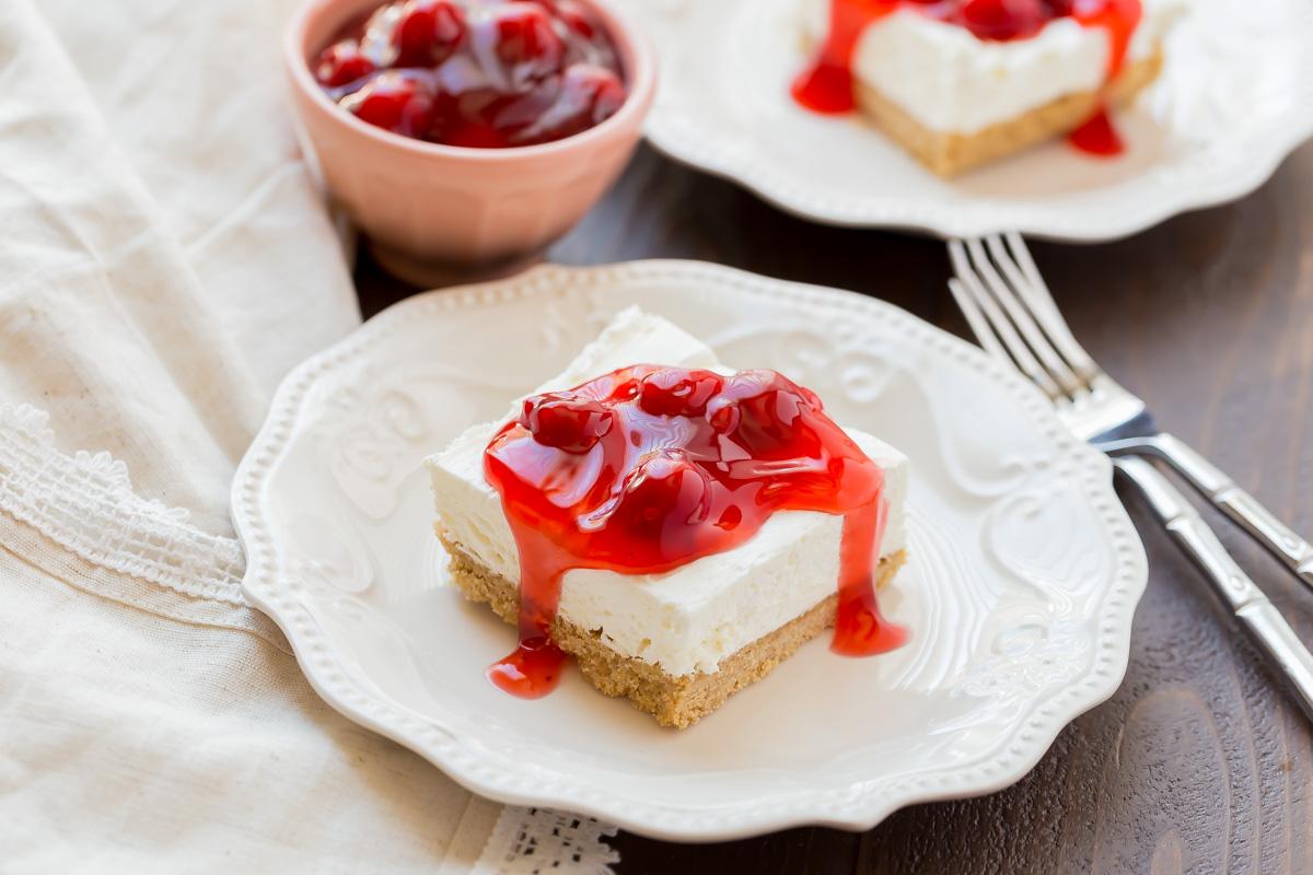 No Bake Cherry Delight Plus A Recipe Video My Kitchen Craze