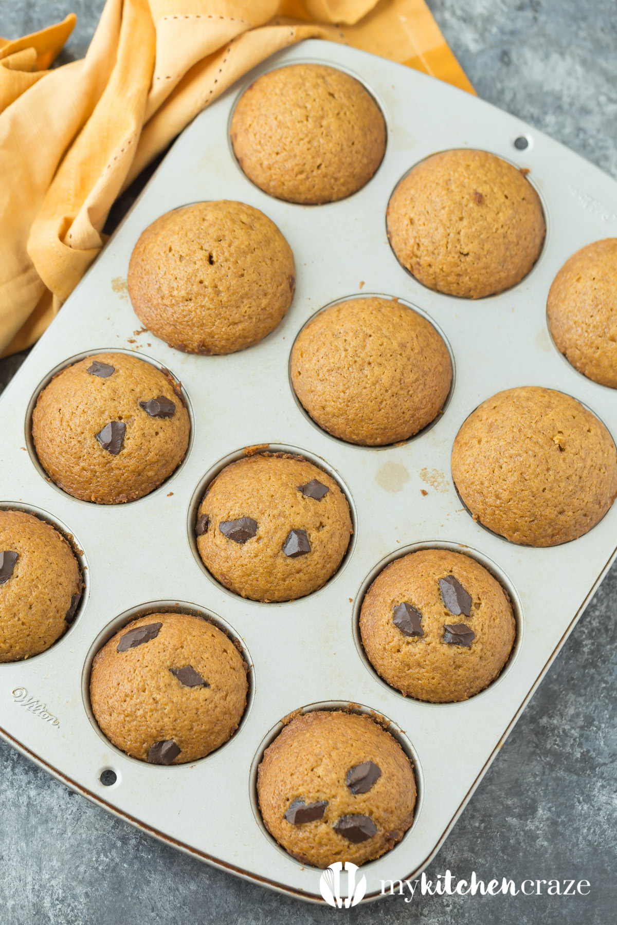 Wake up to a delicious cup of coffee and these moist, flavorful and delicious Pumpkin Muffins. These muffins are perfect for fall! Make sure to grab one because they won't last long!