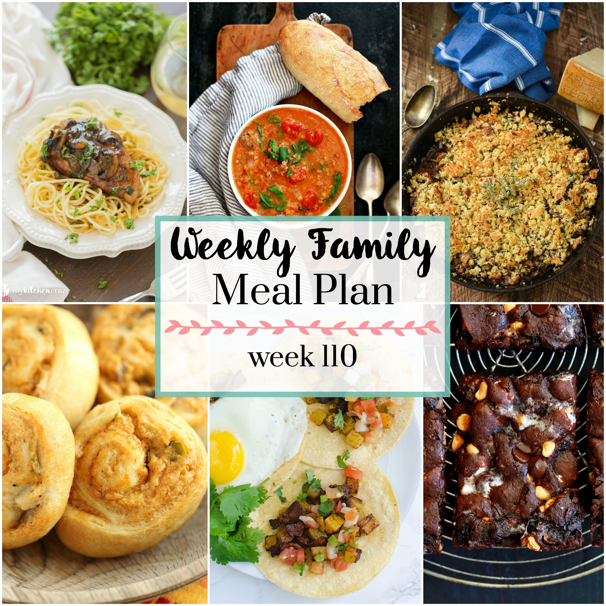 Weekly Family Meal Meal 110