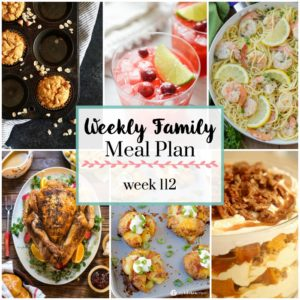Weekly Family Meal Plan 112